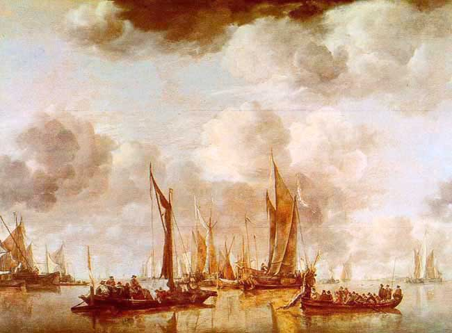 Żaglowce Malarstwo Malarstwo Holenderskie Jan Van De