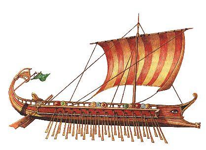 Znalezione obrazy dla zapytania Statek grecki